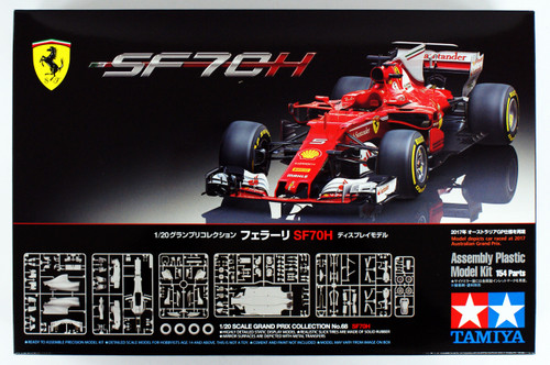Tamiya 20068 Grand Prix Collection No.68 Ferrari SF70H 1/20 scale kit