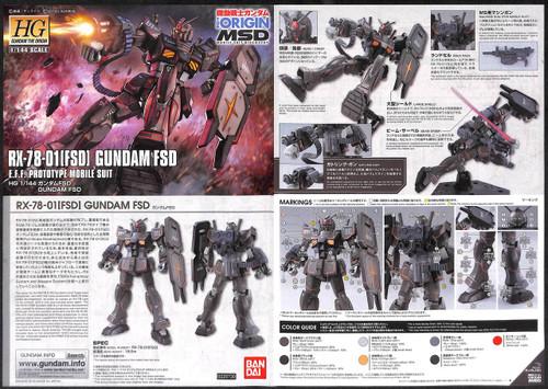 Bandai Gundam The Origin 021 Gundam FSD 1/144 Scale Kit