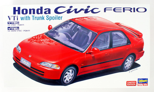 Hasegawa 20348 Honda Civic Ferio VTi Trunk Spoiler Version 1/24 Scale kit