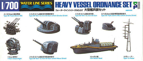 Aoshima Waterline 46142 Heavy Vessel Ordnance Set 1/700 Scale Kit