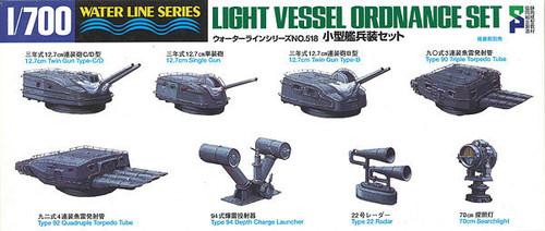 Aoshima Waterline 46159 Light Vessel Ordnance Set 1/700 Scale Kit