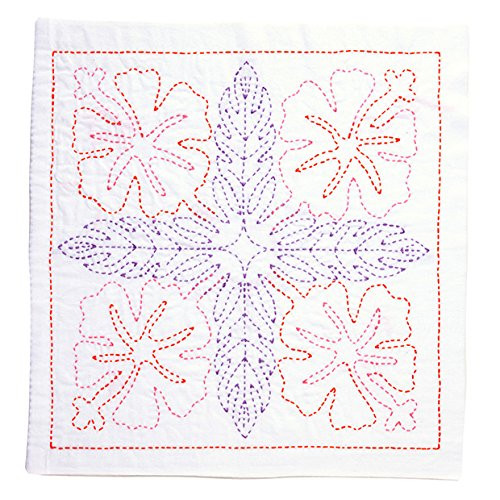 Tulip KSW-001 SASHIKO WORLD Embroidery Kit Hawaii Hibiscus