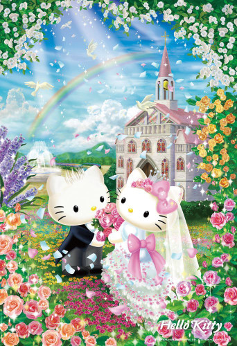 Beverly Jigsaw Puzzle L74-171 Hello Kitty Sweet Wedding (150 L-Pieces)