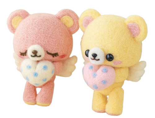 Hamanaka H441-334 Felt Wool Mascot Angel Bear Kit
