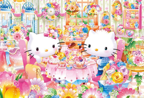 Beverly Jigsaw Puzzle 31-482 Hello Kitty Afternoon Tea Flower House (1000 Pieces)