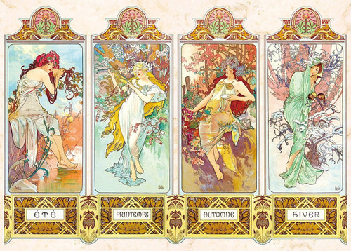 Epoch Jigsaw Puzzle 54-017 Art Mucha Trust Four Seasons Story (2000 S-Pieces)