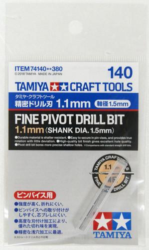 Tamiya 74140 Craft Tools Fine Pivot Drill Bit 1.1mm Shank Diameter 1.5mm