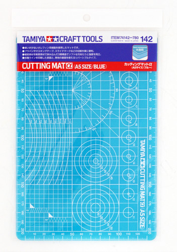 Tamiya 74142 Craft Tools Cutting Mat (A5/ Blue)