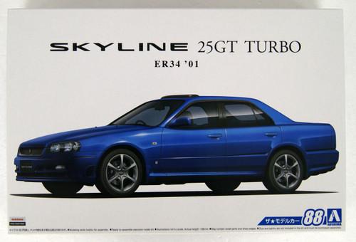 Aoshima 55335 Nissan ER34 Skyline 25GT Turbo 2001 1/24 scale kit
