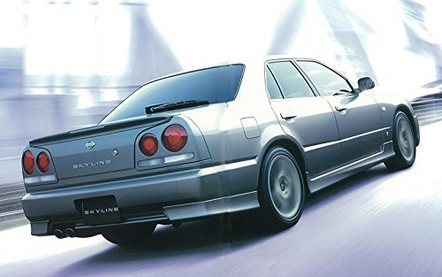 Aoshima 55960 Nissan ER34 Skyline 25GT Turbo 2001 Custom Wheel 1/24 scale kit