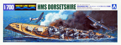 Aoshima Waterline 52662 HMS Dorsetshire Indian Ocean Raid 1/700 scale kit