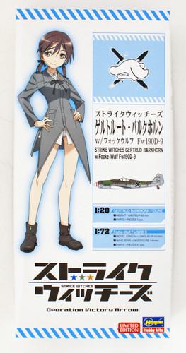 Hasegawa SP379 Strike Witches Gertrud Barkhorn (1/20) w/Focke-Wulf Fw190D-9 (1/72)