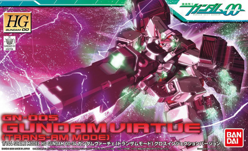 Bandai HG OO 34 Gundam Virtue Trans-Am Mode 1/144 Kit