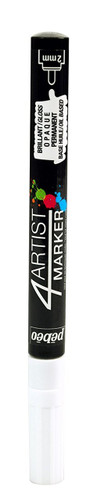 Gaianotes GPM00255 Opaque 4 Artist Marker 2mm White Hobby Tools