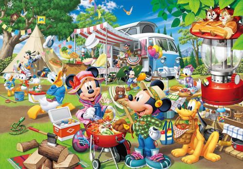 Tenyo Japan Jigsaw Puzzle D-1000-026 Disney Mickey & Minnie Camping (1000 Pieces)