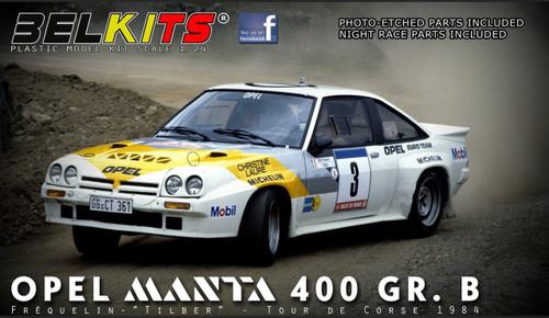 Aoshima (BELKitS) 105498 Opel Manta 400 GR.B Guy Frequelin Tour de Corse 1984 1/24 Scale kit