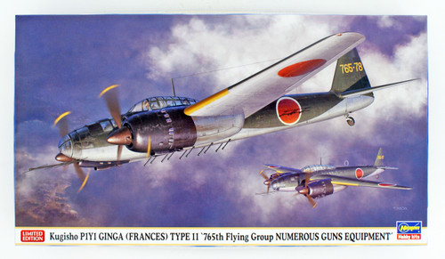 Hasegawa 02285 Kugisho P1Y1 Ginga Frances Type11 765th Flying Group Numerous Guns Equipment 1/72 scale kit