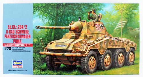 Hasegawa MT52 Sd.Kfz 234/2 SCHWERE PANZERSPAHWAGEN 1/72 Scale Kit