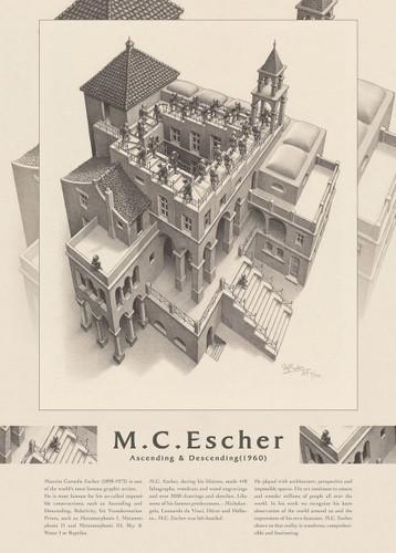 Epoch Jigsaw Puzzle 06-100 Maurits Cornelis Escher Ascending & Descending 1960 (500 Pieces)
