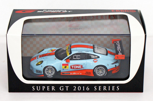 Ebbro 45413 GULF NAC PORSCHE 911 GT300 No.9 Blue (Resin) 1/43 scale