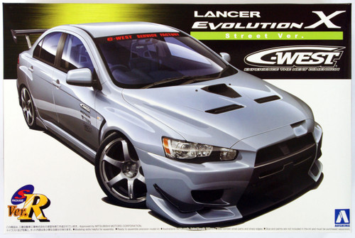 Aoshima 49013 Mitsubishi Lancer Evolution X C-West Street Version 1/24 Scale Kit