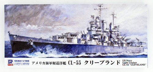 Pit-Road Skywave W-208 WWII United States Navy Light Cruiser CL-55 Cleveland 1/700 scale kit
