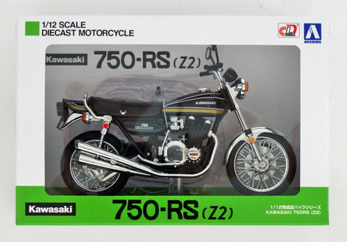 Aoshima Skynet 04613 Kawasaki 750RS (Z2) Tamamushi Blue 1/12 Scale Finished Model