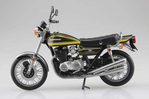 Aoshima Skynet 04613 Kawasaki 750RS (Z2) Yellow Tiger 1/12 Scale Finished Model