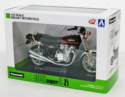 Aoshima Skynet 04613 Kawasaki 900Super4 (Z1) Orange Tiger 1/12 Scale Finished Model
