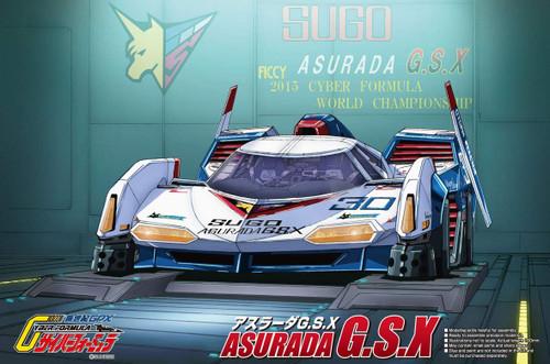 Aoshima 56479 Cyber Formula Sugo Asurada G.S.X Clear Body 1/24 Scale kit