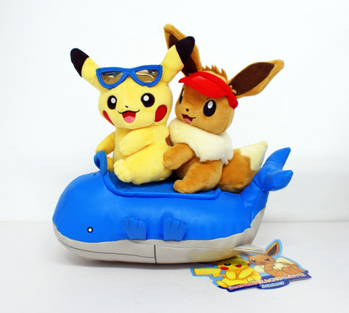 Pokemon Center Original Plush Doll Season's Pikachu & Eevee SUMMER 707-