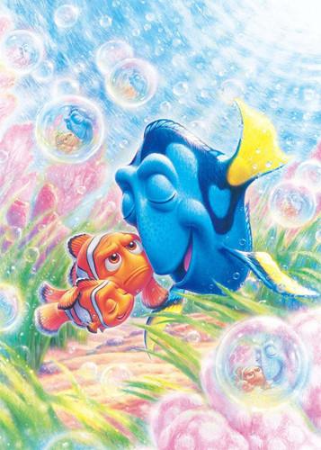Tenyo Japan Jigsaw Puzzle D-500-481 Disney Finding Dory Nemo & Marlin (500 Pieces)