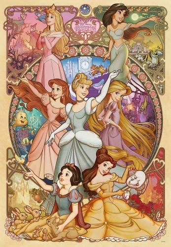 Tenyo Japan Pure White Jigsaw Puzzle DP-1000-031 Disney Princess (1000 Pieces)