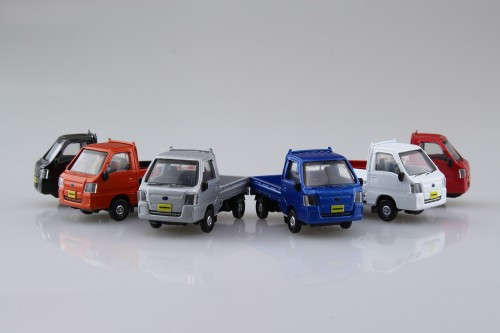 Aoshima Skynet 05788 Blind Toy 1/64 Subaru Sambar Collection 1 BOX 12 Cars Set