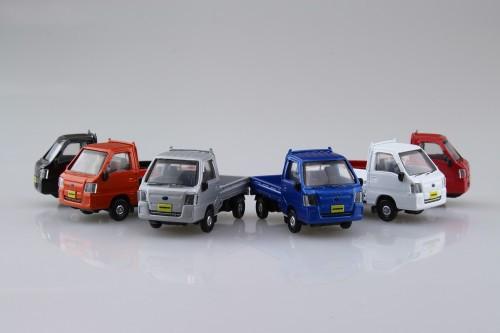 Aoshima Skynet 05788 Blind Toy 1/64 Subaru Sambar Collection 1 BOX 12 Cars Set