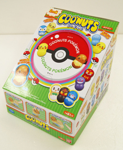 Bandai Candy 290360 Coo'nuts Pokemon Green Package 1 BOX 14 pcs. set