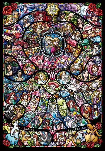 Tenyo Japan Pure White Jigsaw Puzzle DP-1000-028 Disney Pixar Stained Glass (1000 Pieces)