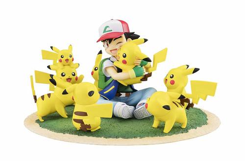 MegaHouse G.E.M. Series Pokemon Ash & Pikachu (Lots of Pikachu ver.) Figure
