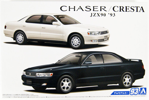 Aoshima 56530 The Model Car 93 Toyota JZX90 CHASER/CRESTA Avante/Super Lucent/Tourer '93 1/24 scale kit