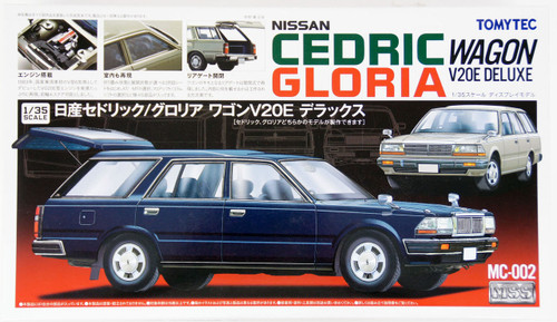 Tomytec MC-002 MSS Nissan Cedric / Gloria Wagon V20E 1/35 Scale Convertible Kit