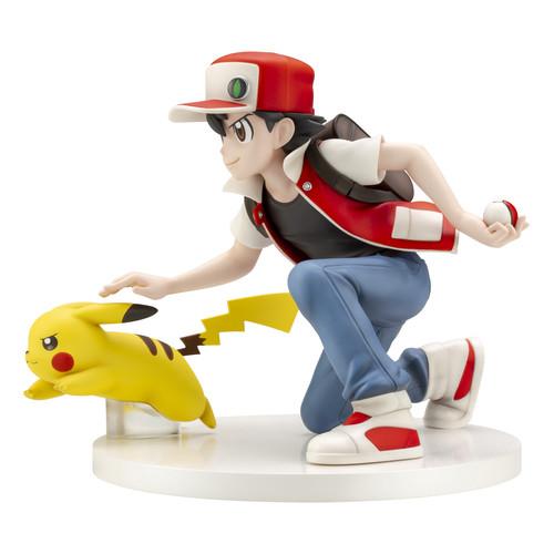 kotobukiya pokemon red \u0026 pikachu 1 8 figure plazajapankotobukiya pokemon center original red \u0026 pikachu 1 8 scale figure