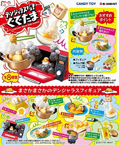 Re-ment 151809 Dangerous Gudetama 1 BOX 8 Figures Complete Set