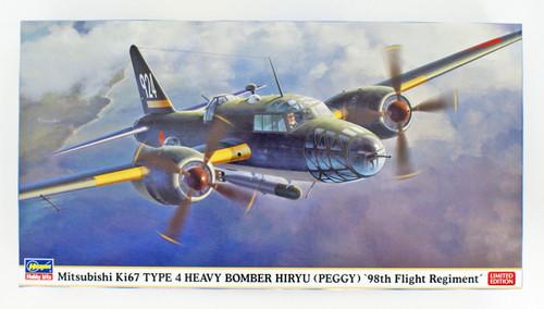 Hasegawa 02282 IJA Mitsubishi Ki67 Type 4 Heavy Bomber Hiryu '98th Flight Regiment' 1/72 Scale kit