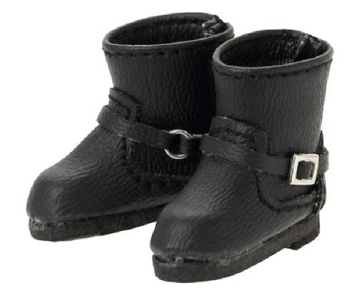 Azone AKT112-BLK Double Buckle Boots Black