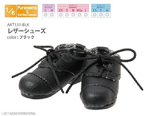 Azone AKT131-BLK Leather Shoes Black