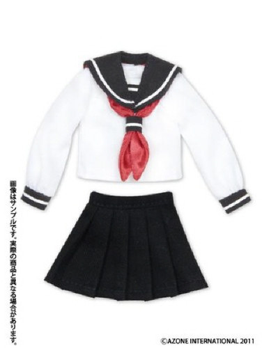 Azone ALB123-WNV PNXS Sailor Suit School Uniform Set White x Navy