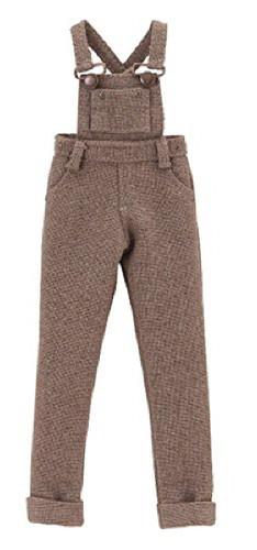 "Azone ALB164-DBR Clothes Shop In Forest ""PNXS Salopette Pants"" Dark Brown"