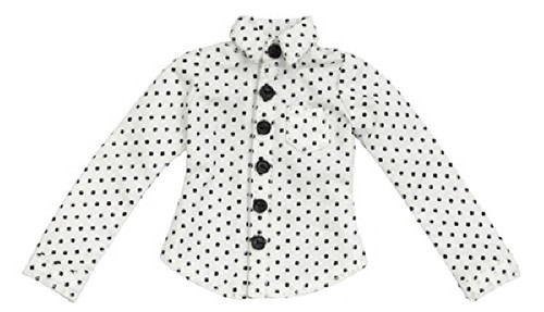 Azone ALB171-WHT PNXS Dot Pattern Shirt White