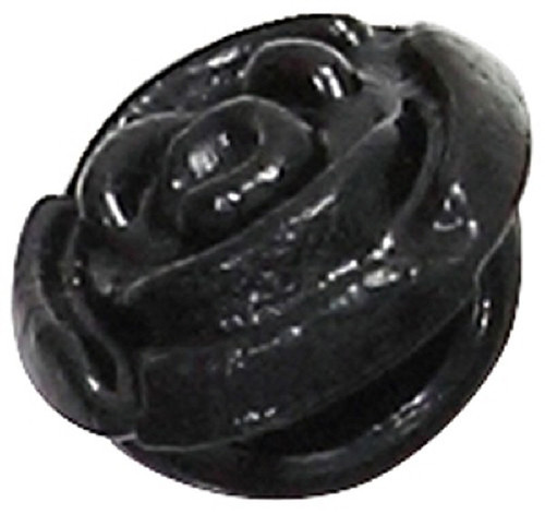 Azone AMP118-BLK Azone Original 6mm Rose Motif Button Black