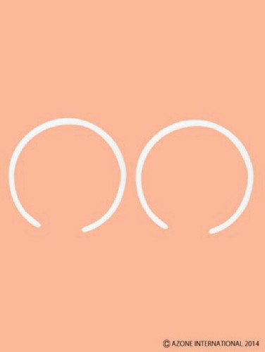 Azone AMP127-WHT 1/6 Plastic Headband White